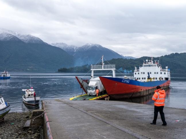 First ferry landing.