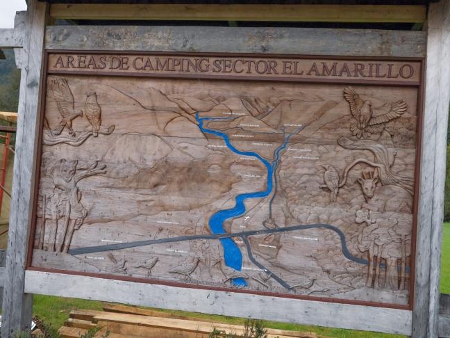 Pumalin camping map.