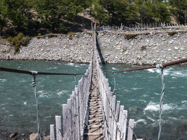 Favorite river crossing in Patagonia.