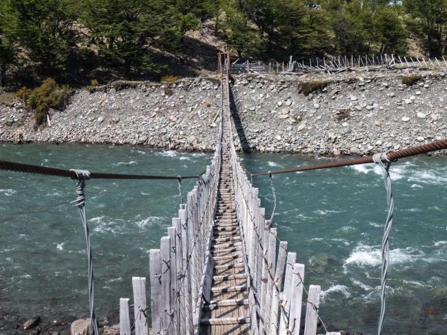 Favorite river crossing in Patagonia.