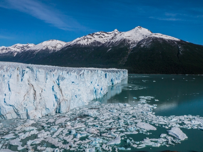 Perito Moreno. Worth the rather expensive bus ride and park entrance. It was very active this day.