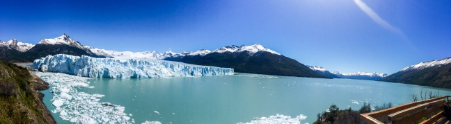 Panorama of Perito Moreno. It was really, really cool.