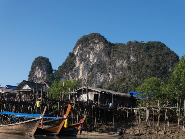 Phang Nga is all about these limestone cliffs. They rise up all around the town, and in the bay.