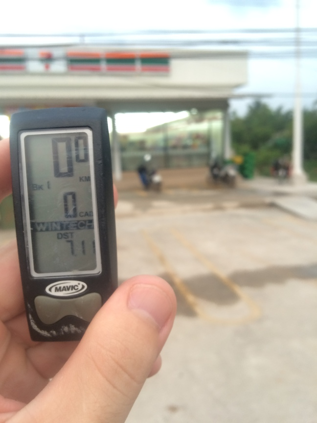 Q5. You are on a bike tour in Southern Thailand. Assume for simplicity that over the 700km journey you see a grand total of 200 7-Elevens, of which you stop at 20. Given that you ride 50km/day, what is the probability that on a given day you show up at a 7-Eleven when your odometer for the day is at 7.11km?
