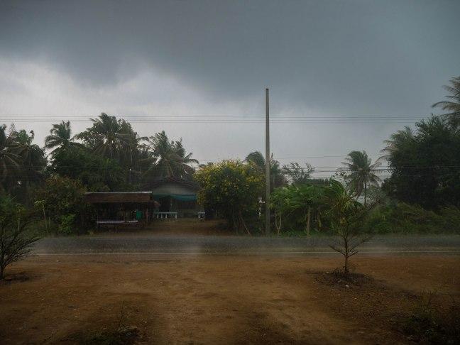 We start with rain. Lots of rain.