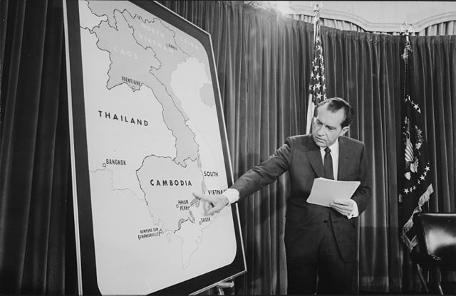 President Nixon shows you where we've been riding.