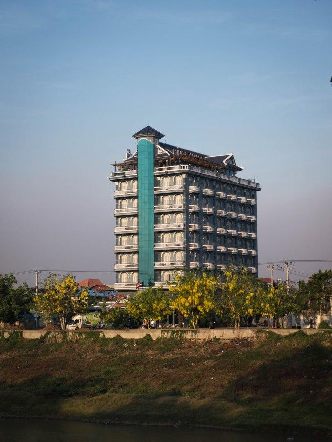 Hotel in Battambang along the nice riverwalk.