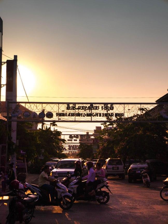 Battambang sunset.