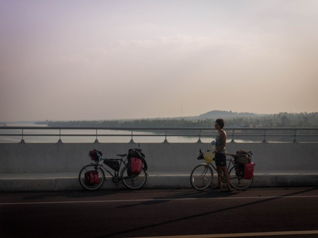 Mekong! Bridge! No ferry anymore!