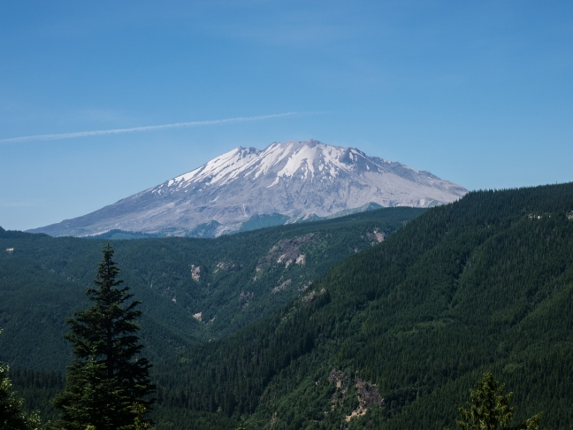Mount St. Helens from the backside.